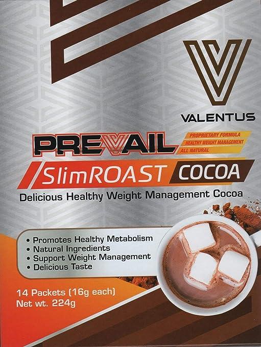 VALENTUS Slim Roast Cocoa (sabor chocolate cacao) caja de 14 sobres ...