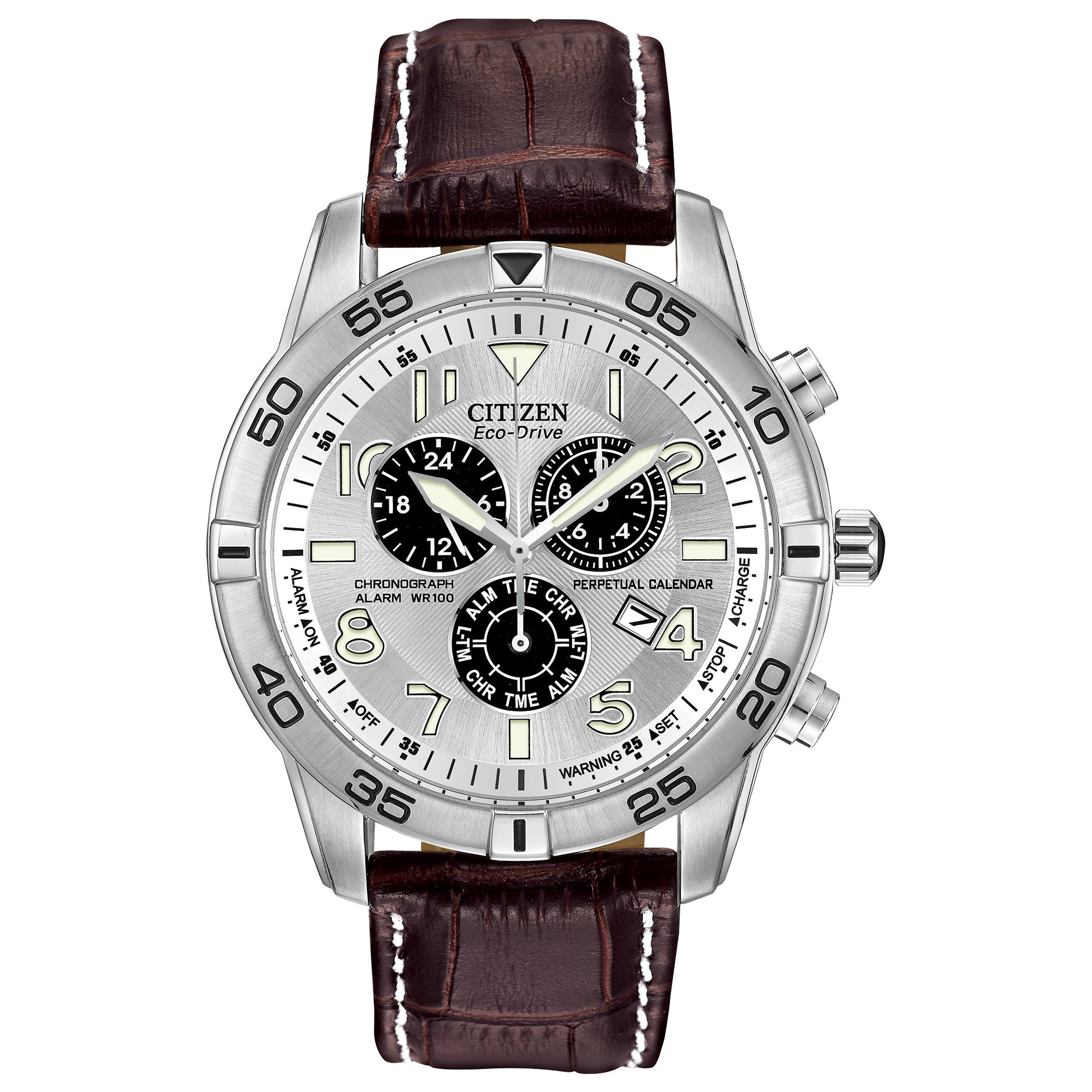Citizen Men's Eco-Drive Chronograph Watch with Perpetual Calendar and Date, BL5470-06A by Citizen