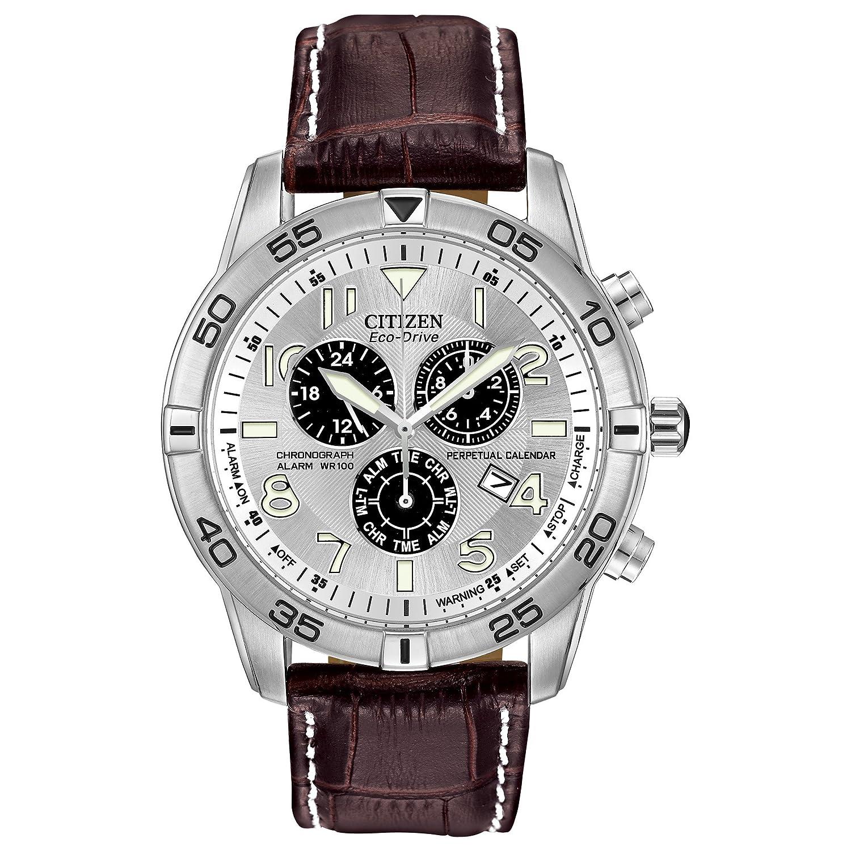 Perpetual Calendar Watch >> Amazon Com Citizen Men S Eco Drive Chronograph Watch With Perpetual