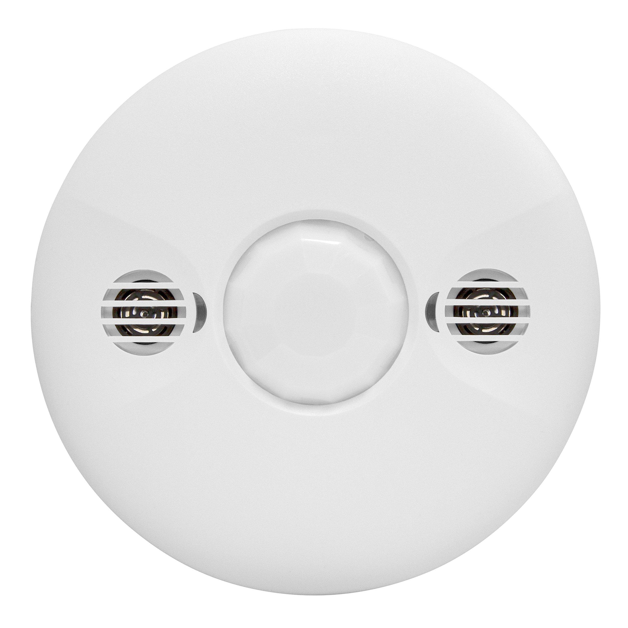 Enerlites MDC-50L Ceiling Sensor Commercial Grade Ultrasonic/Passive Infrared 360 Degree FOV, Low Voltage, White