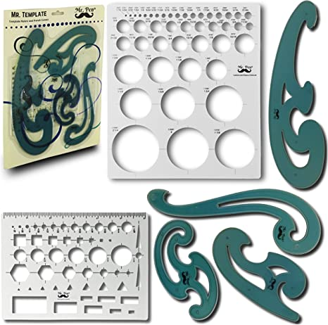 PLASTIC FRENCH CURVES  STENCIL DRAWING TEMPLATE FRENCH CURVES SR-10 SET OF 3
