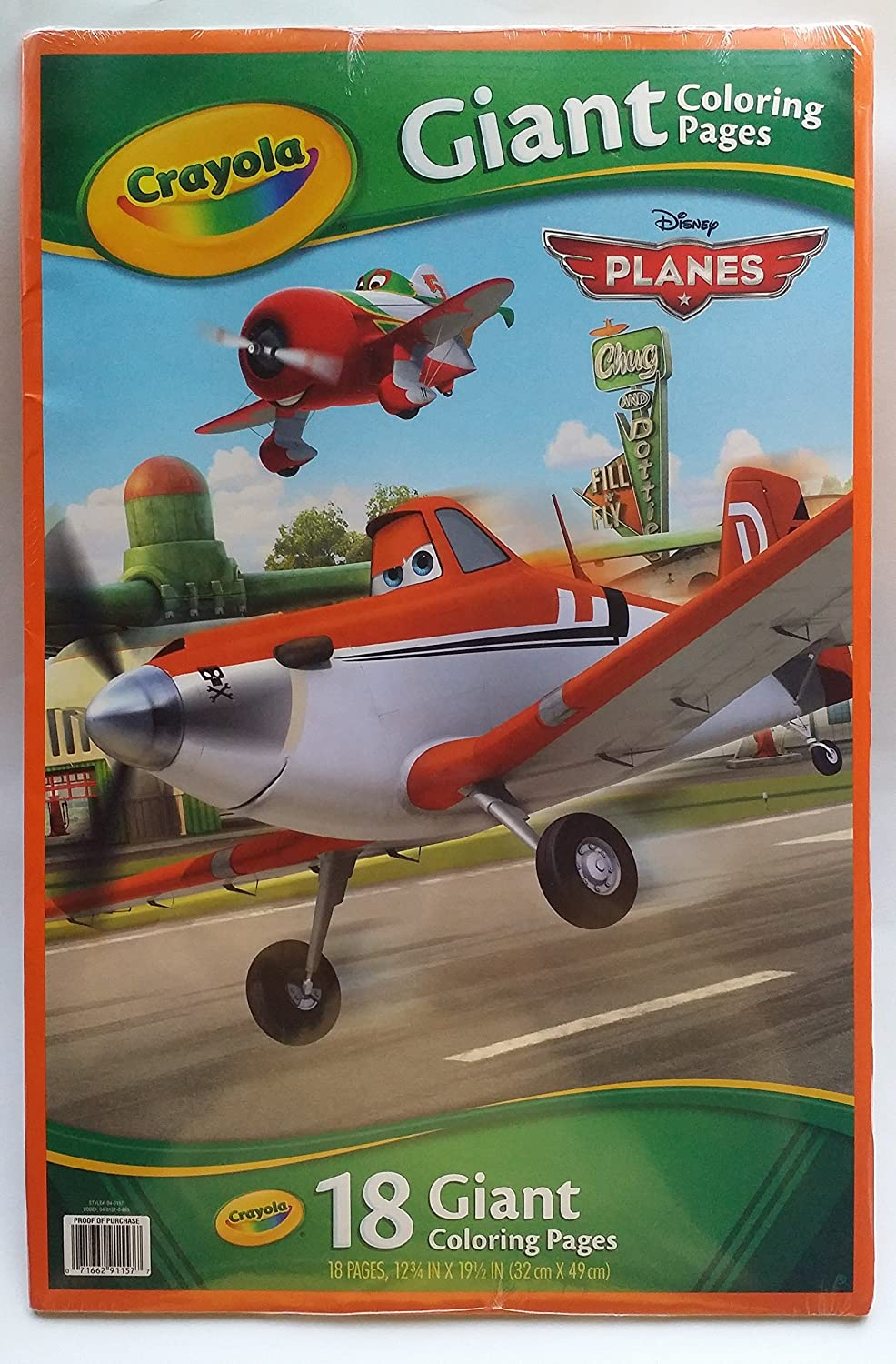 amazon com disney planes crayola 18 giant coloring pages toys