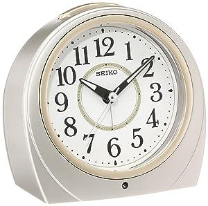 SEIKO CLOCK ( Seiko clock ) automatic lights alarm clock ( silver ) Round KR888S by Seiko Watches