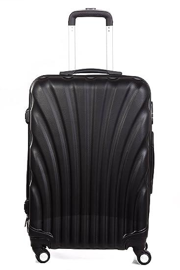1bf75288f Americano Polycarbonate 26378 Cms Black Hard sided Trolley Bag ...