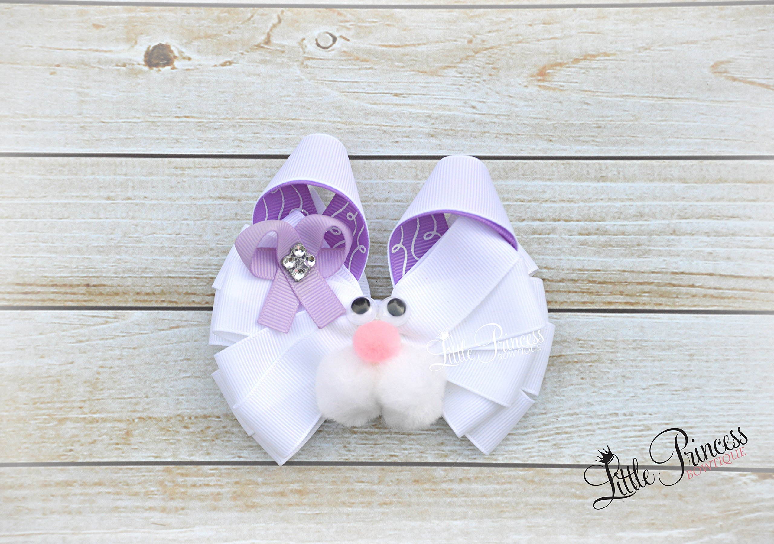 Bunny Hairbow, Rabbit Hairbow,Easter Hairbow