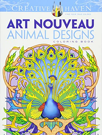 Artists Colouring Book Art Nouveau : Amazon.com: dover creative haven art nouveau animal designs