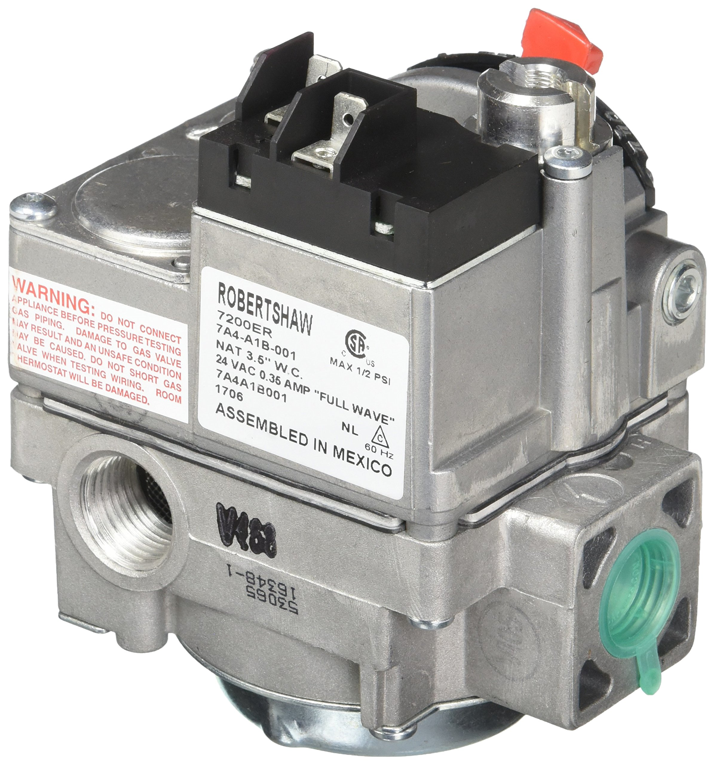 Robertshaw 720-402 Combination Dual Gas Valve With Side Taps