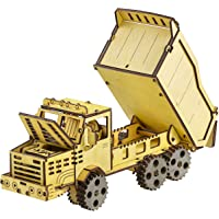 3D Wooden Puzzle for Adults & Teens Gifts - 3D Mechanical Model DIY Construction Kit - Dump Truck