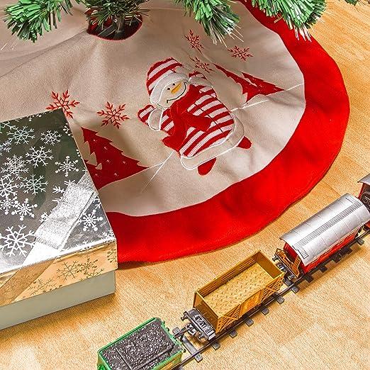 The Christmas Workshop - Falda para árbol de Nieve, Color Blanco y ...