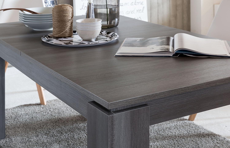 Esstisch ausziehbar grau  trendteam ET Esstisch Küchentisch ausziehbar | Rauchsilber | 160 ...