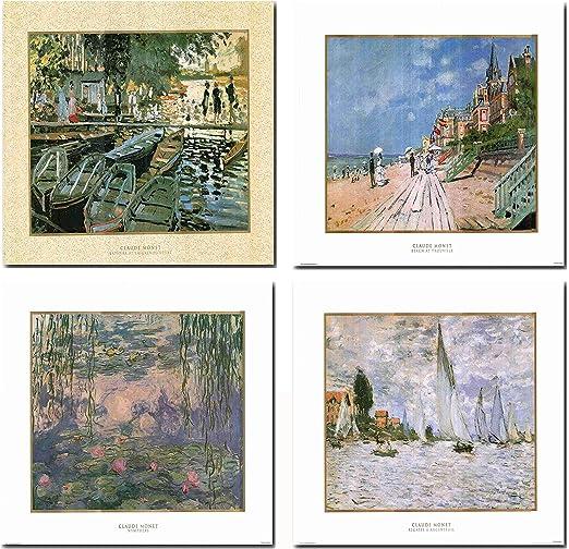Poplars in the sunlight by Claude Monet Giclee Fine ArtPrint Repro on Canvas