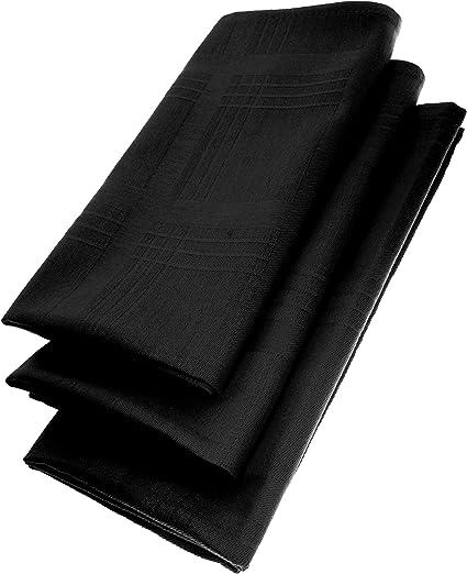 Gariella 3 Pack textil Servilletas 45 x 45 cm 100% algodón 4 ...