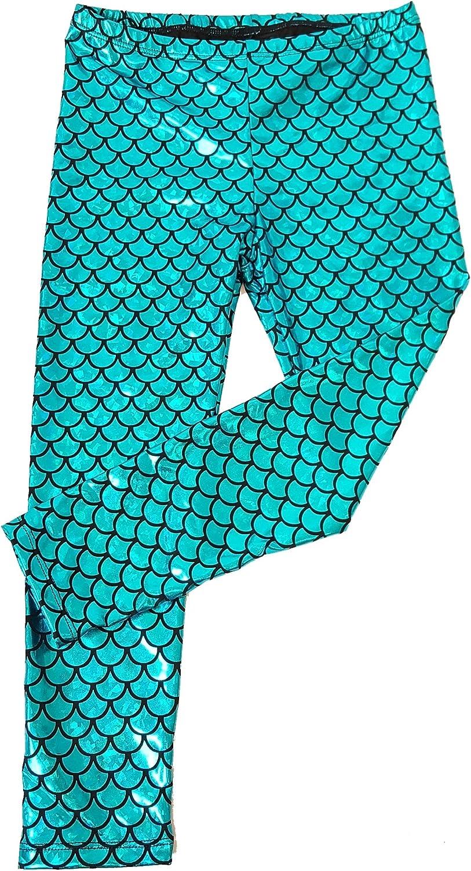 Aribella Collection Girls Little Mermaid Fish Scale Leggings