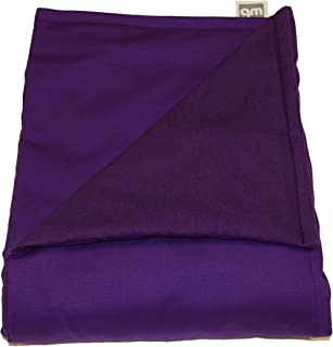 "product image for Weighted Blankets Plus LLC - Made in USA - Adult Large Weighted Blanket - Purple - Cotton/Flannel (72"" L x 42"" W) 18lb High Pressure."