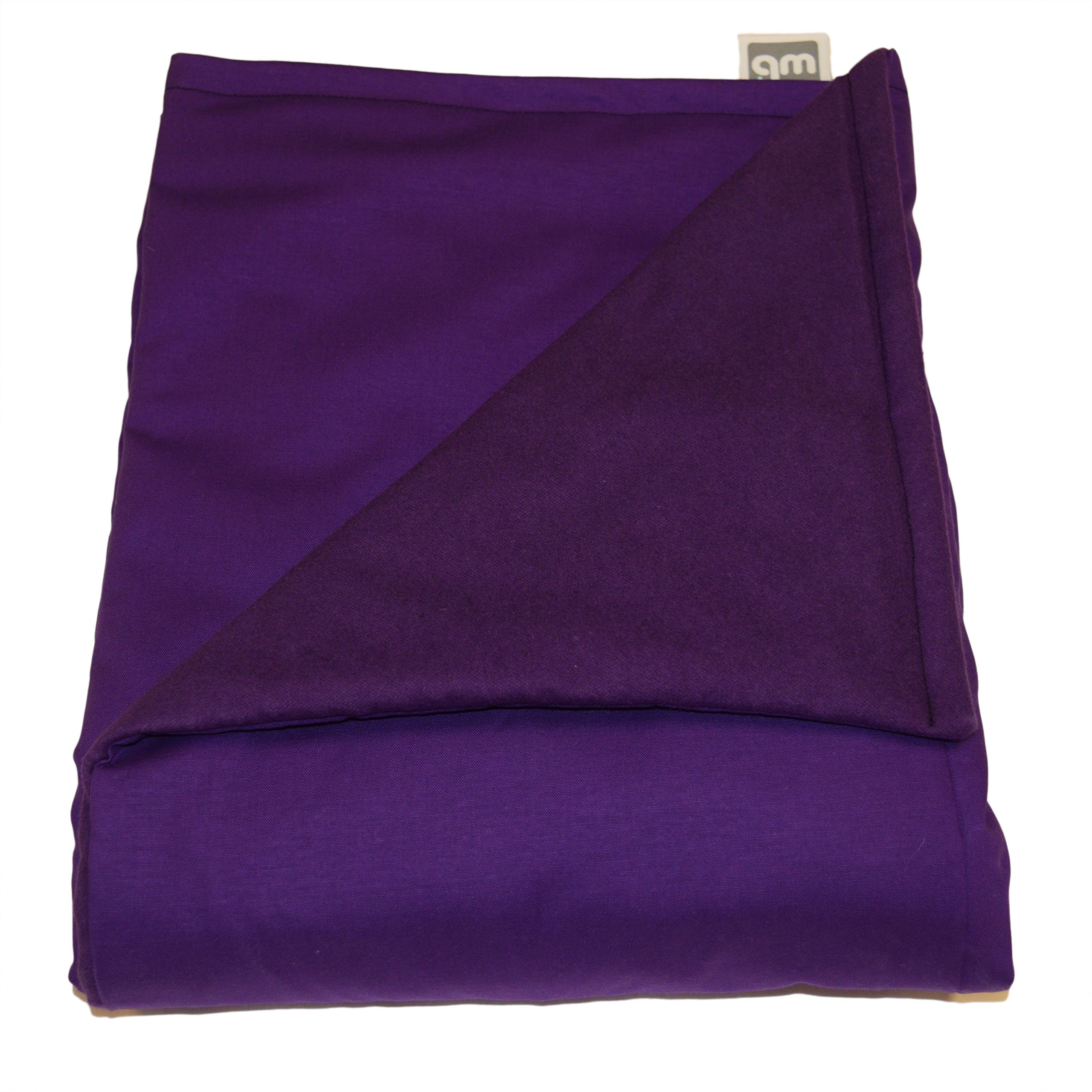 WEIGHTED BLANKETS PLUS LLC - CHILD SMALL WEIGHTED BLANKET - PURPLE - COTTON/FLANNEL (48''L x 30''W) 6lb MEDIUM PRESSURE