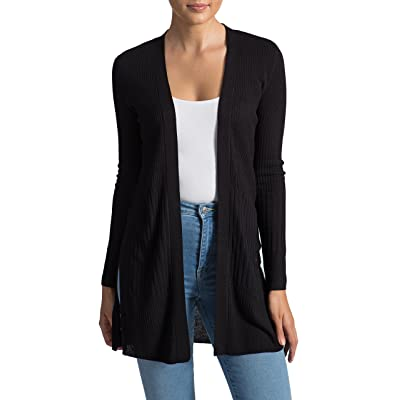 89th&Madison Long Sleeve Ribbed Duster