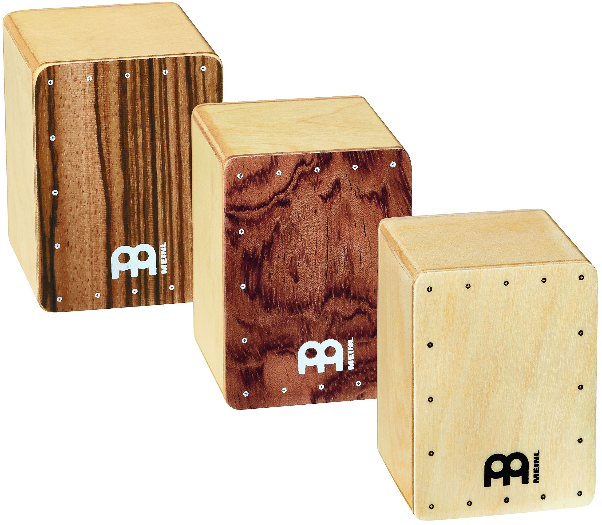 Meinl Percussion Mini Cajon Shaker 3-Piece Set Made in Europe-Baltic Birch Body, 2-Year Warranty (SH50-SET)