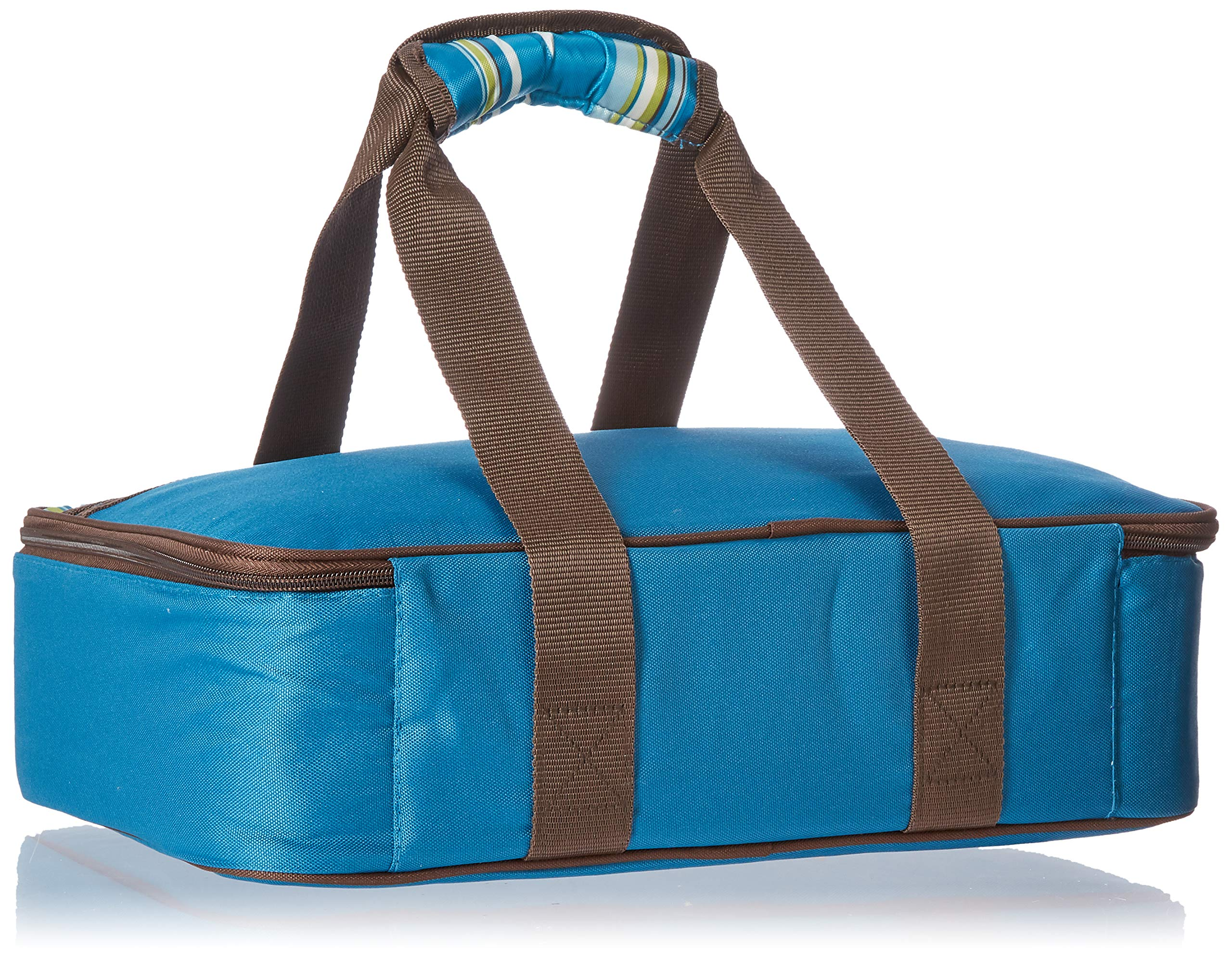 Rachael Ray Lasagna Lugger, Insulated Casserole Carrier for Potluck Parties, Picnics, Tailgates - Fits 9''x13'' Baking Dish, Marine Blue Stripes by Rachael Ray (Image #2)