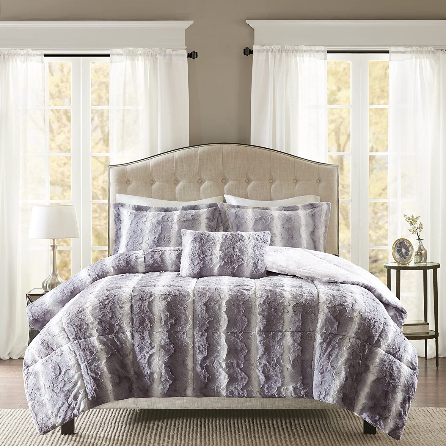 bath faux wid cannon comforters comforter bed brown qlt hei p fur bedding prod chocolate home