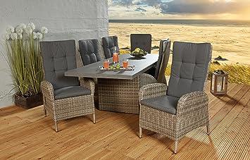 Amazon.de: Sitzgruppe Speisegruppe Terrassengarnitur 6 Stühle und ...