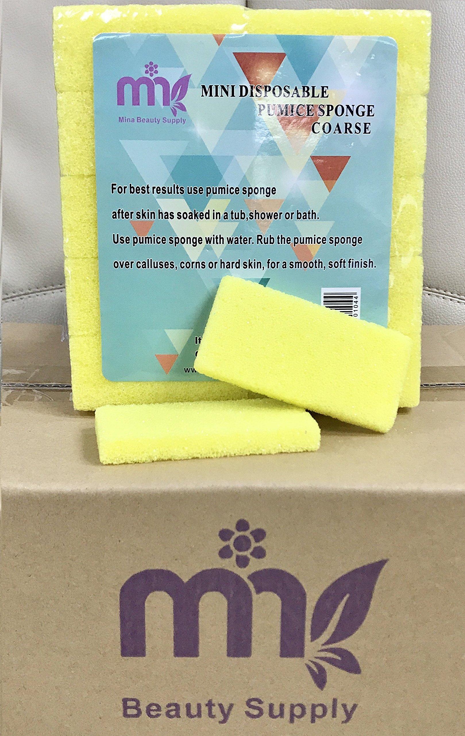 Nail Mini Pumice Disposable Buffing Pad for Feet (1,600 pcs, Yellow)
