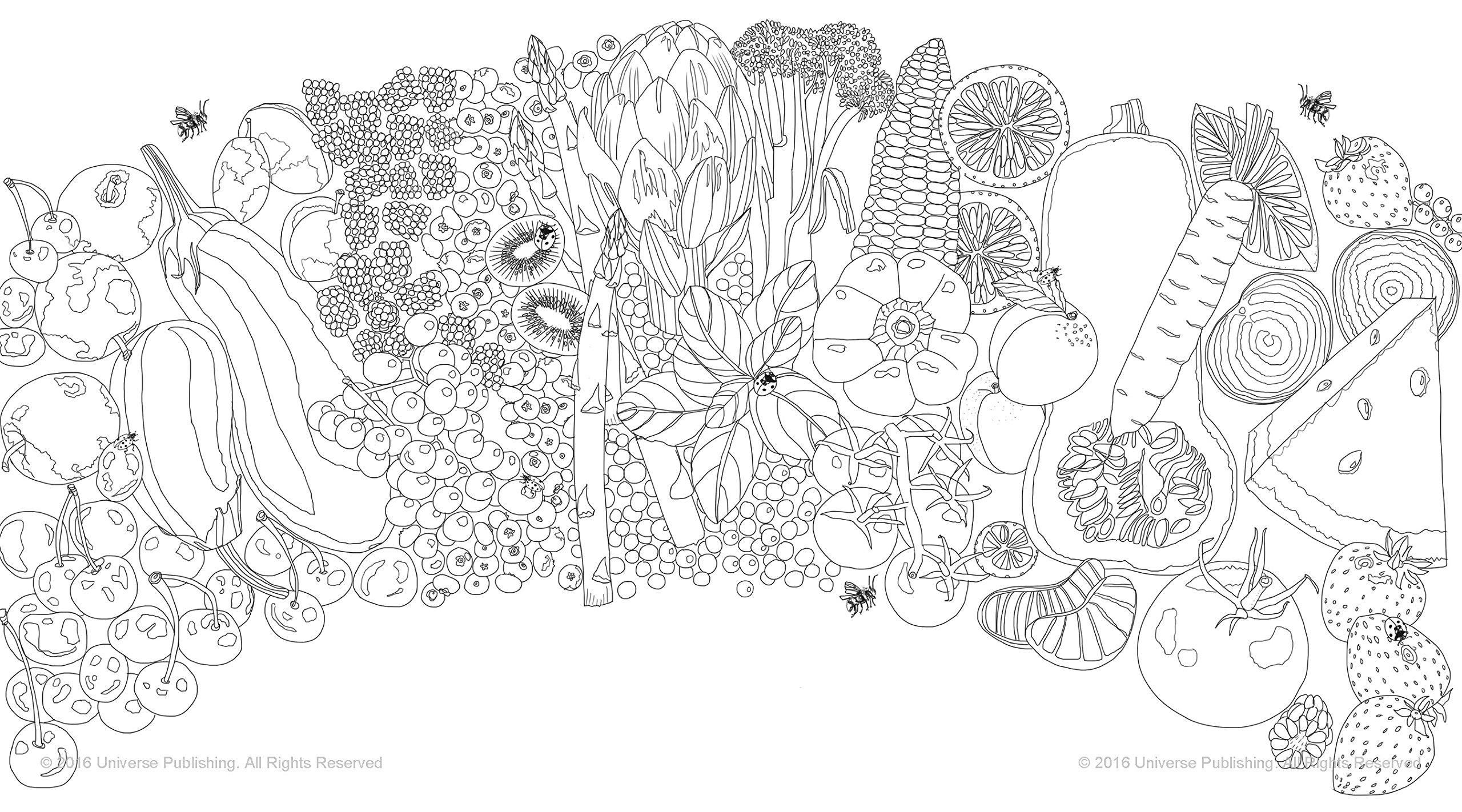 Edible Paradise A Coloring Book Of Seasonal Fruits And Vegetables Amazonca Jessie Kanelos Weiner Books