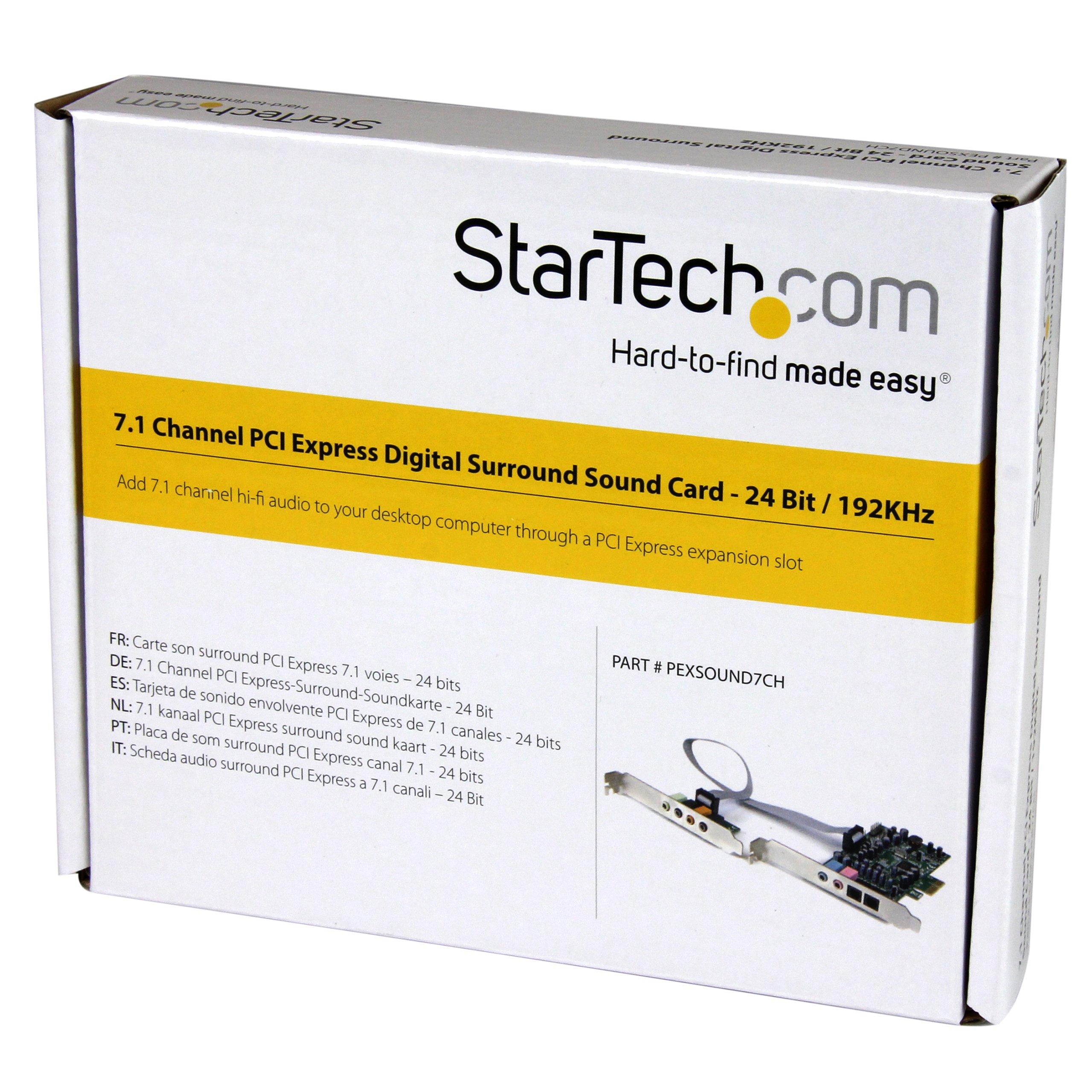 StarTech.com 7.1 Channel Sound Card, PCI Express PEXSOUND7CH by StarTech