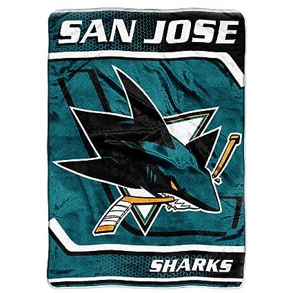 Amazon Com San Jose Sharks Extra Large Plush Blanket Sports Fan