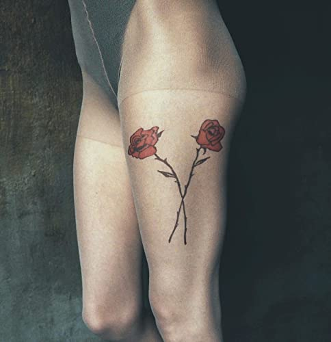 Amazon Com Tattoo Tights By Tatul With Hand Painted Vintage Red
