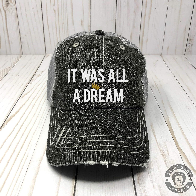 Trucker Hat It Was All A Dream Baseball Cap Biggie Smalls Crown