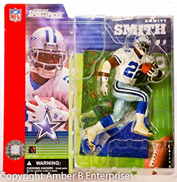 916507cc McFarlane Emmitt Smith #22 White Jersey Dallas Cowboys NFL Series 1 Action  Figure, Figures - Amazon Canada