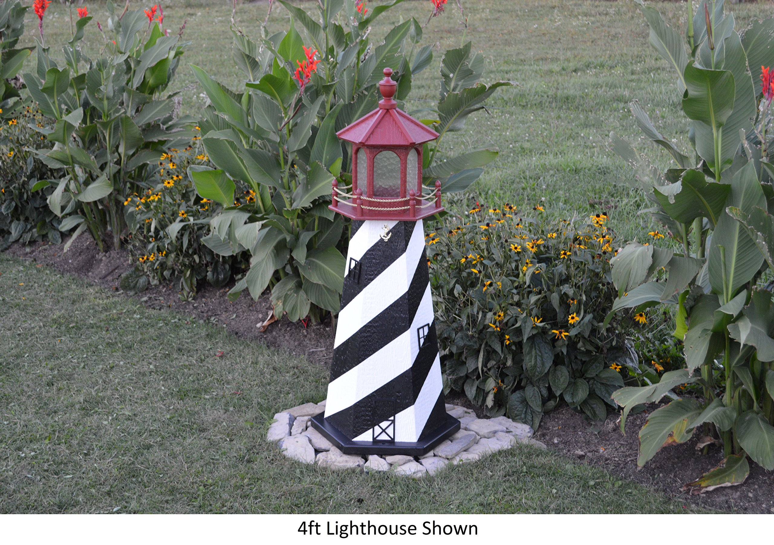 Backyard Crafts Amish-Made St. Augustine, FL Replica Lighthouse, 48'' Tall