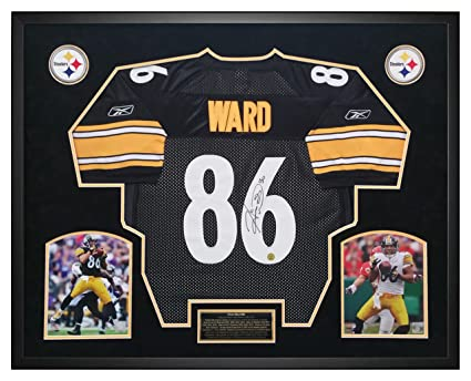362fad012a5 Hines Ward Pittsburgh Steelers Autographed Jersey Custom Framed Shadow Box  - Player Hologram