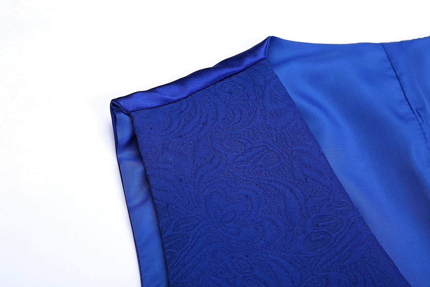 Airtailors Men/'s Slim Fit Paisley Fashion Wedding Vest Royal Blue