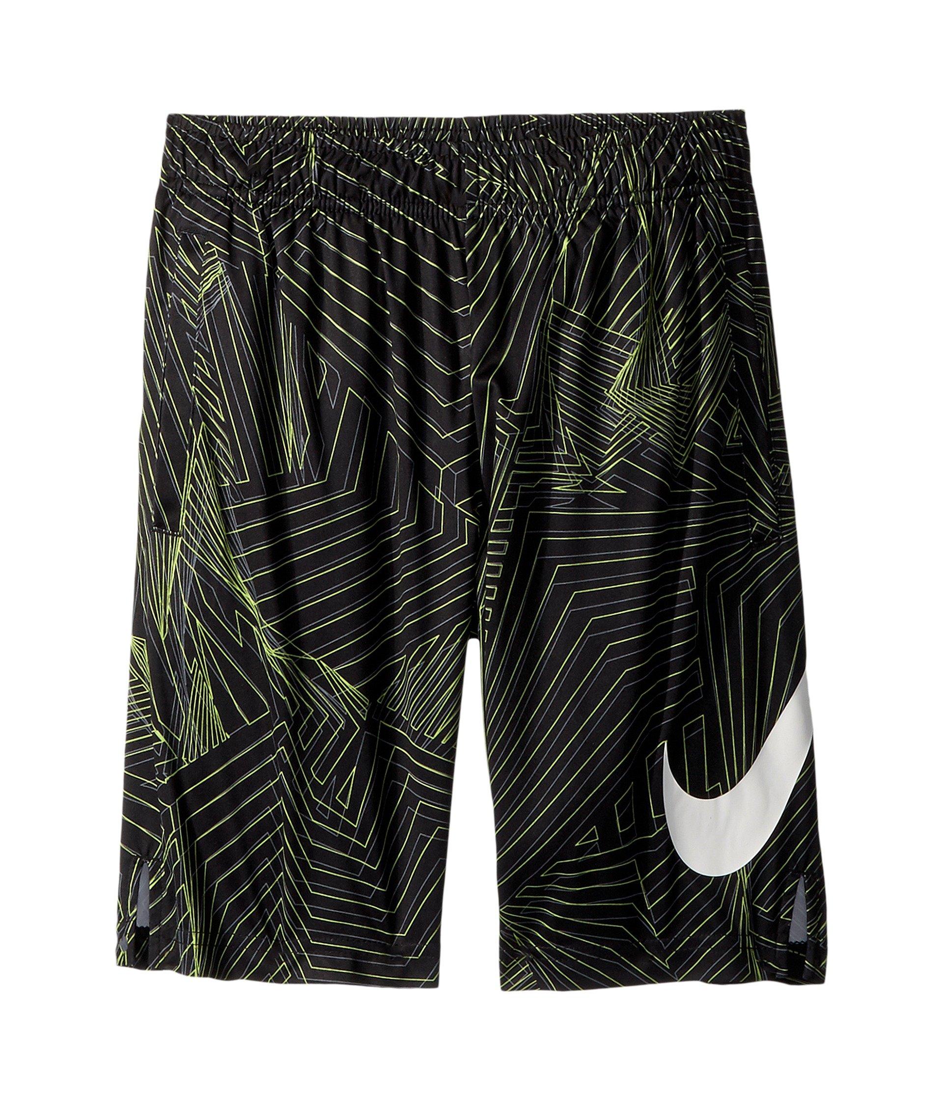 Nike Kids Boy's Dry Print Training Short (Big Kids) Black/White Large by Nike