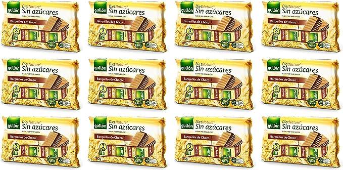 Gullón Diet Nature Barquillos de chocolate sin azucar añadida 210 ...