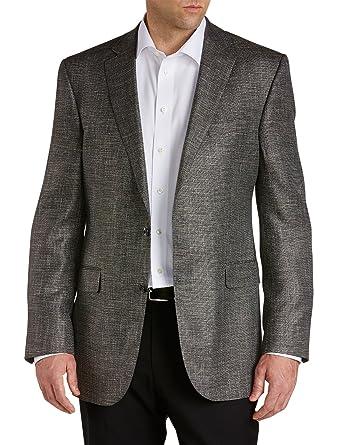 Amazon.com: Jack Victor Big & Tall Sport Coat Bamboo Black 52 LONG ...