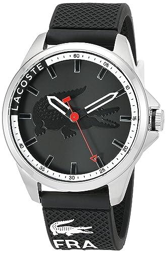 Lacoste Reloj analogico para Hombre de Cuarzo con Correa en Silicona 2010840: Amazon.es: Relojes