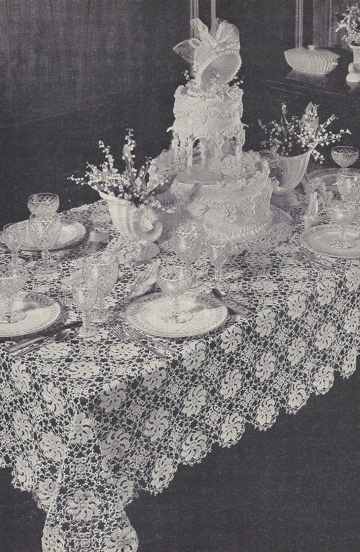 Amazon Vintage Crochet Pattern To Make Tablecloth Pinwheel