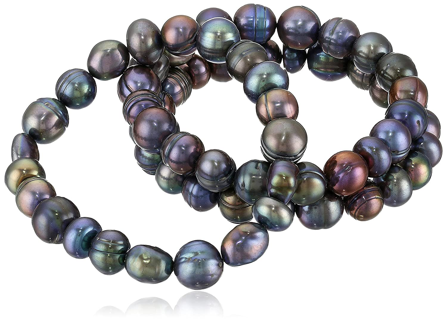 Amazon: Freshwater Cultured Pearl Stretch Bracelet (set Of Three):  Jewelry