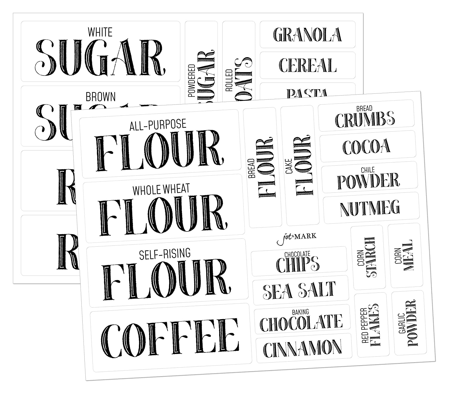 Amazon com pantry labels for kitchen organization and storage clear stickers set of 36 by jot mark kitchen dining