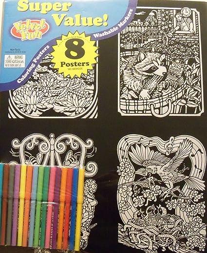 Amazon.com: Divertido colorear Art 8 unidades con marcadores ...