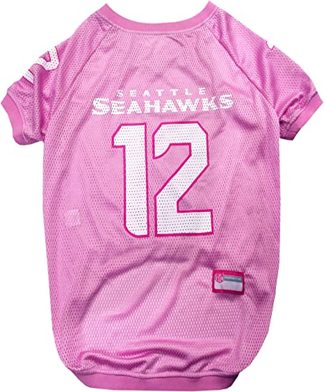 Licensed TOP QUALITY /& Cute pet clothing for all NFL Fans JERSEYS /& T-SHIRTS for DOGS /& CATS available in 32 NFL TEAMS /& 4 sizes NFL PINK PET APPAREL