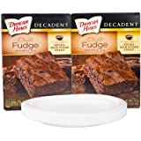 Bundle: (2) Boxes of Duncan Hines Decadent Brownies with FREE Serving Plates (Double Fudge)