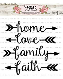 Words Stencil For Craft And Home Decoration Home Family Love