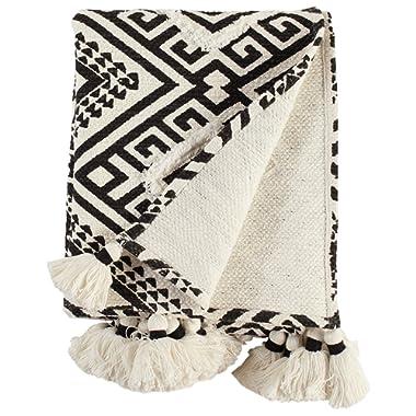 Rivet High Contrast Global Geometric Throw Blanket
