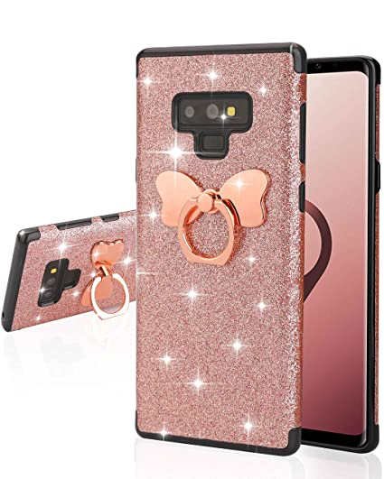newest a0999 4d3ca Casetego Compatible Galaxy Note 9 Case,Glitter Sparkle Bling Shock  Absorbing Flex TPU Rubber Case Cover with Ring Grip Holder Kickstand for  Samsung ...
