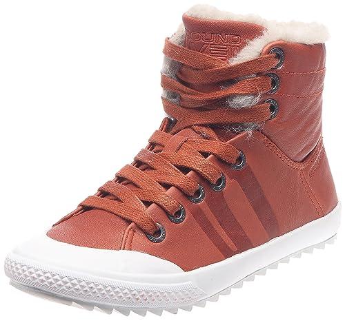 Groundfive - Zapatillas de cuero para mujer, color marrón, talla 37