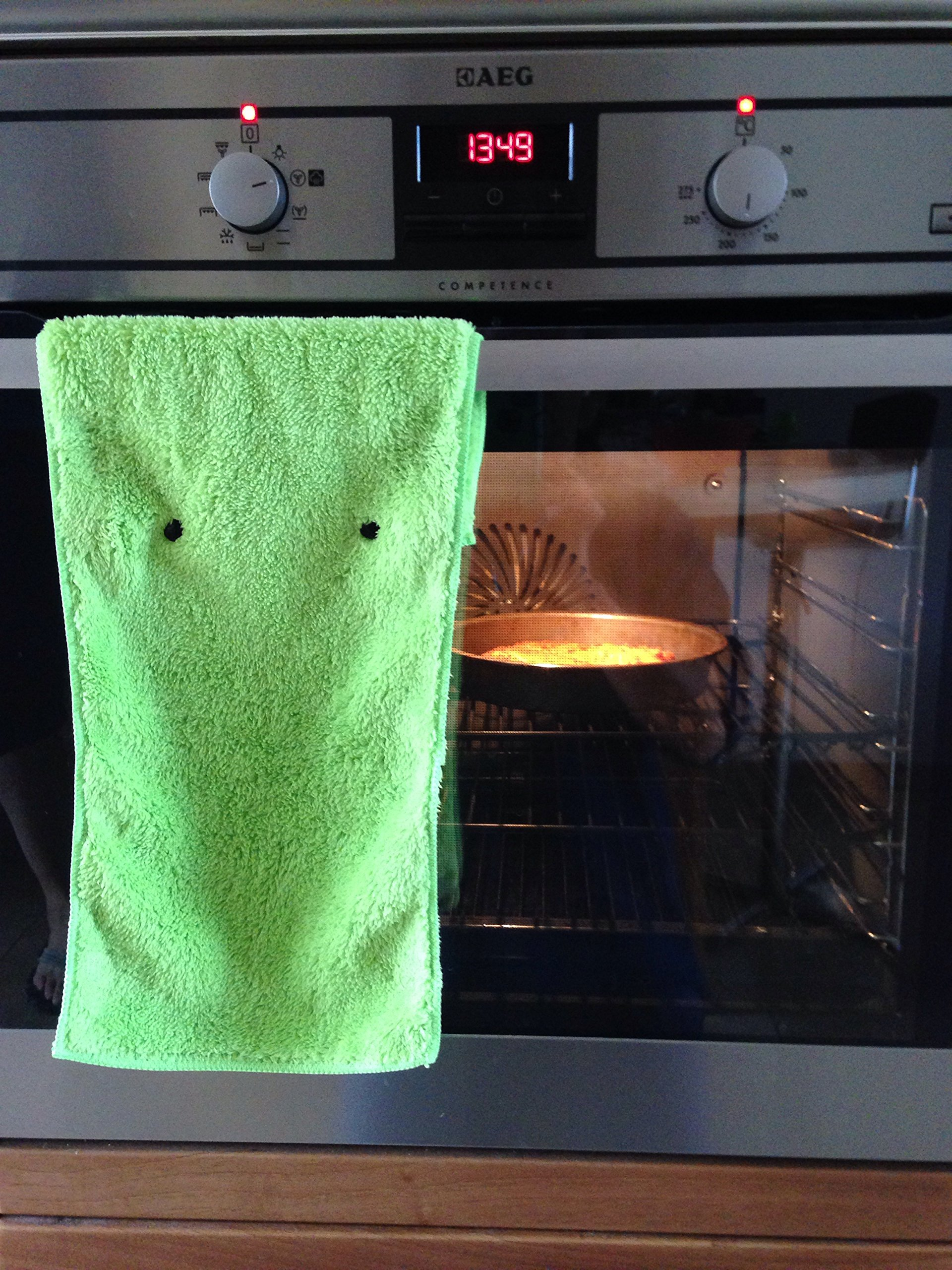 Hanging Hand Towels with Snap Fastener - Set of 3 Lime Green, Hanging Kitchen Hand Towels, Hanging Bathroom Hand Towels, Soft, Quick Drying, Microfiber Fluffy Fingertip Towels by Taylors of Kent (Image #8)