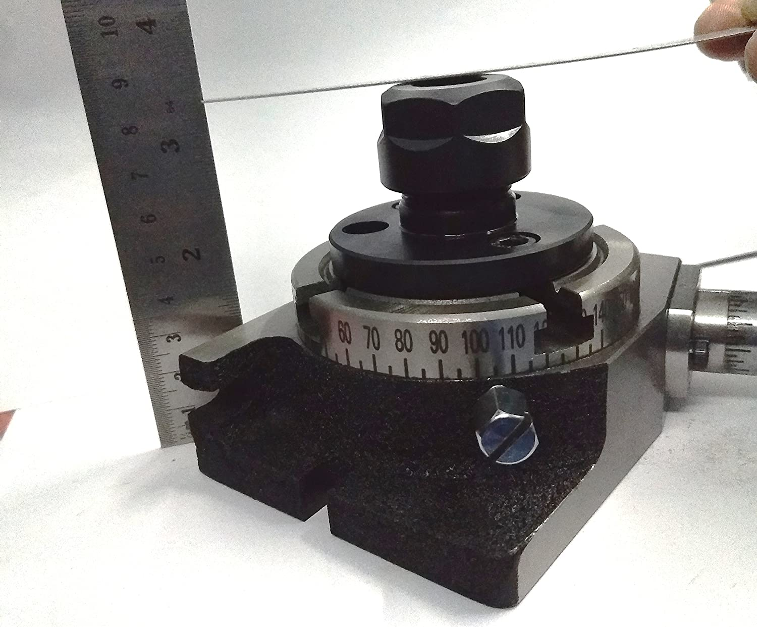 Rotary Table 3// 80 mm with ER-20 Collet Adapter for Instant Milling Machine Engineering Tools
